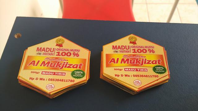 Stiker Label Madu