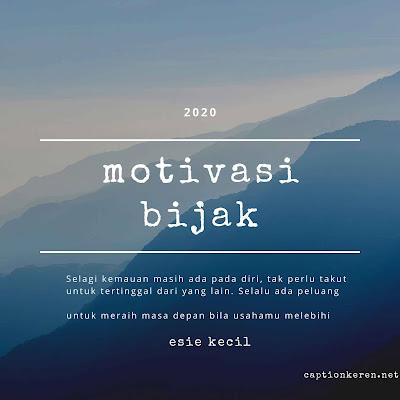 motivasi diri untuk meraih masa depan