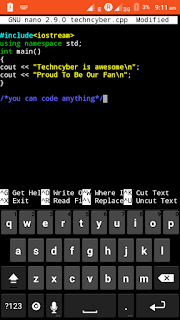 C++ programming using Termux