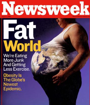 portada newsweek: mundo obeso