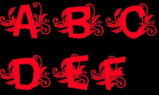 Clipart Art Font