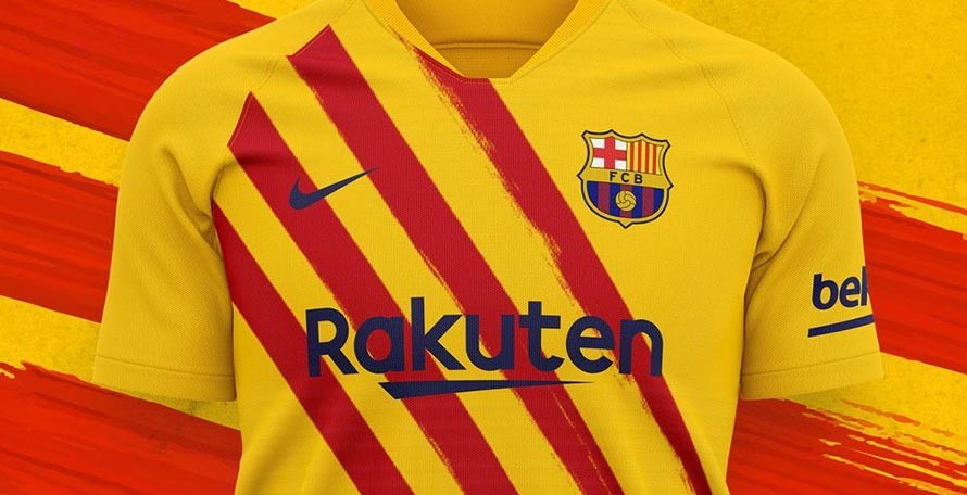 fc barcelona 19 20 senyera fourth kit released full collection footy headlines fc barcelona 19 20 senyera fourth kit