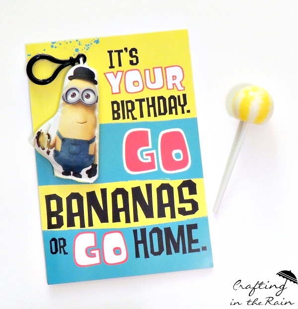Minion Birthday Cards Crafting In The Rain