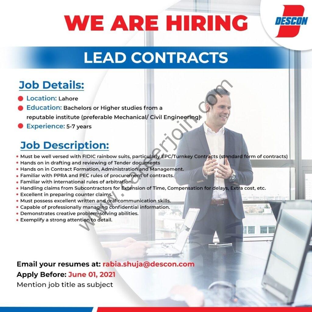 Descon Pakistan Jobs 2021 in Pakistan