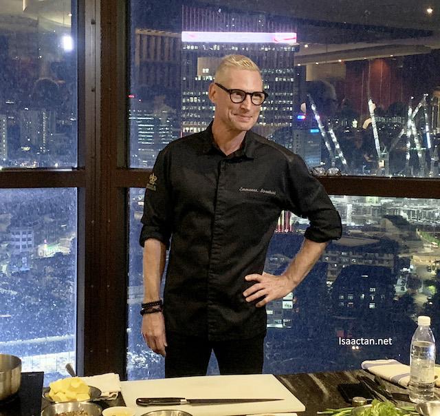 2-star Michelin celebrity Chef Emmanuel Stroobant himself!