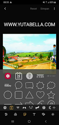 sticker watermark foto samsung