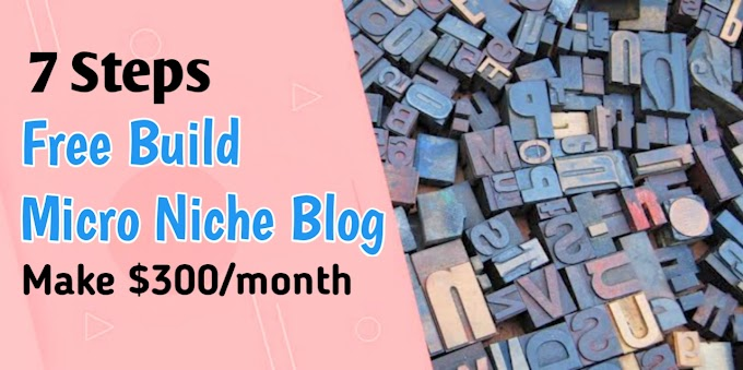Top 7 step guide to build a micro niche blog| Earn $300/ from adSense.