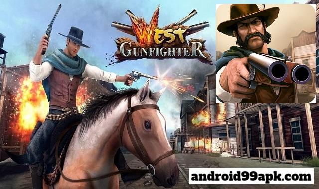 لعبة West Gunfighter v1.8 مهكرة كاملة بحجم 20 MB للأندرويد