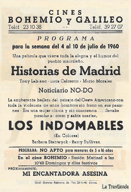 Los Indomables - Programa de Cine - Barbara Stanwick - Barry Sullivan