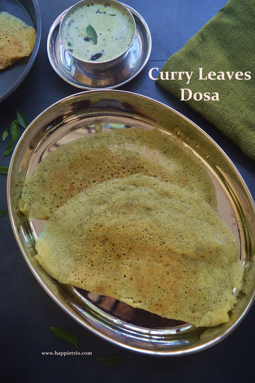 Curry Leaves Dosa Recipe | Karuvepilla Dosa | How to Prepare Dosa with Curry Leaves