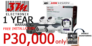 CCTV PACKAGE PHILIPPINES 2 HIKVISION dome camera bullet camera 3m electronix cebu philippines