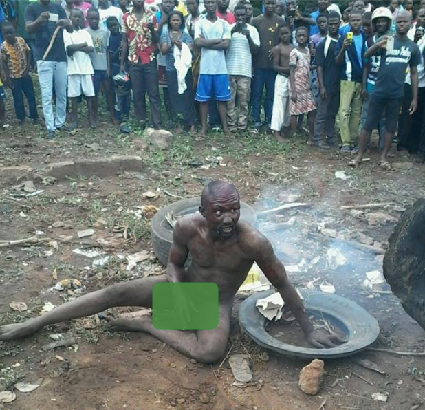igbo man burnt to death togo