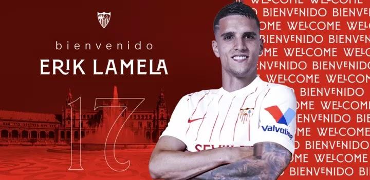 OFFICIAL: Sevilla have confirmed the signing of Erik Lamela from Tottenham