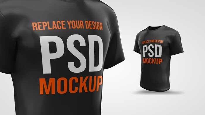 T-Shirt 3D Rendering Desig Mockup
