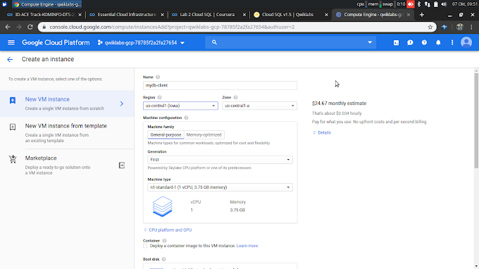 Cloud SQL : Deploy Cloud SQl on GCP and connecting with vm instances
