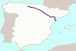 Mapa de localización del río Ebro