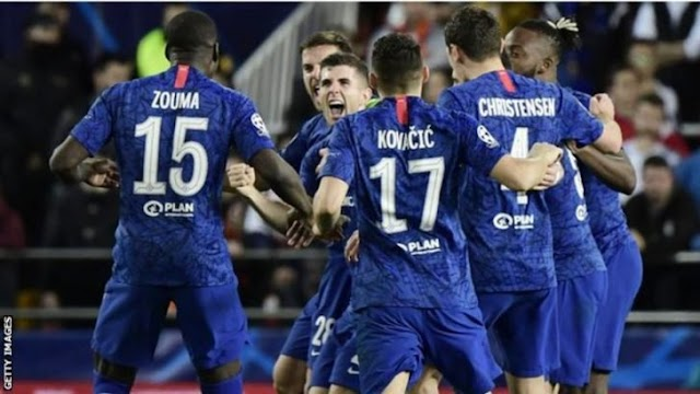 Valencia 2 - 2 Chelsea champions league highlight