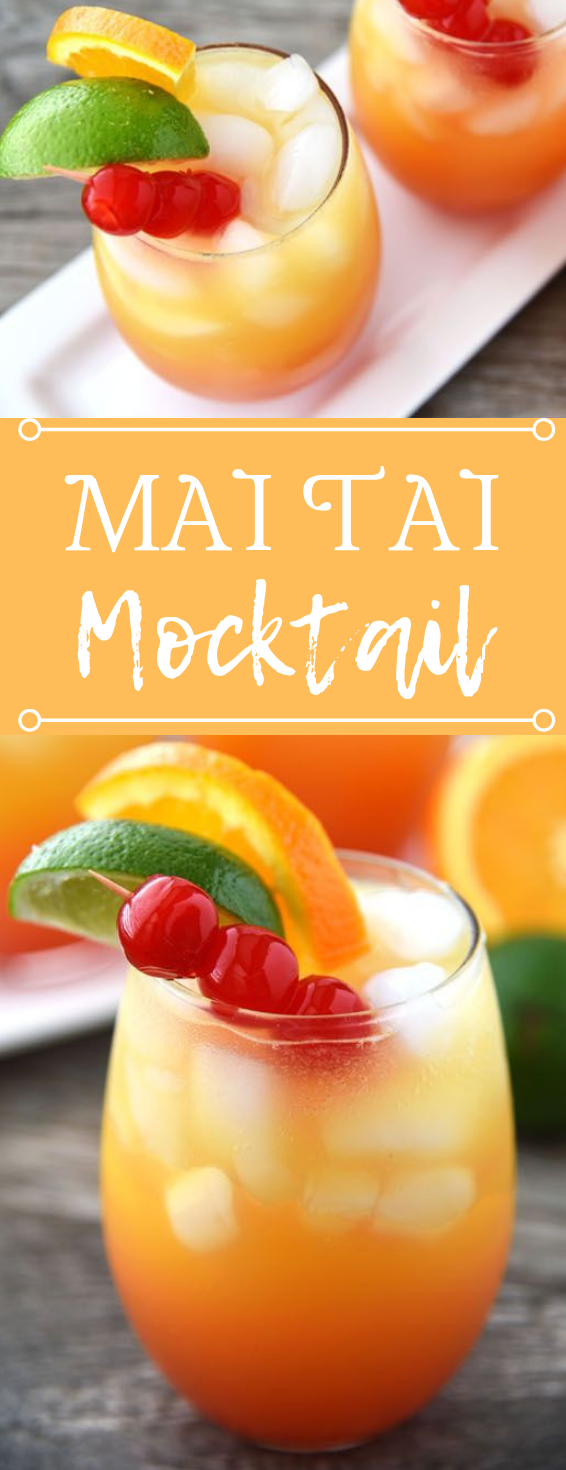 MAI TAI MOCKTAIL #drink governori #drink #delicious #smoothie #cocktail