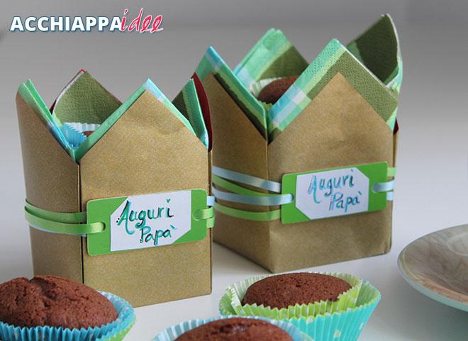 Sacchetti festa del papà porta muffin e dolcezze