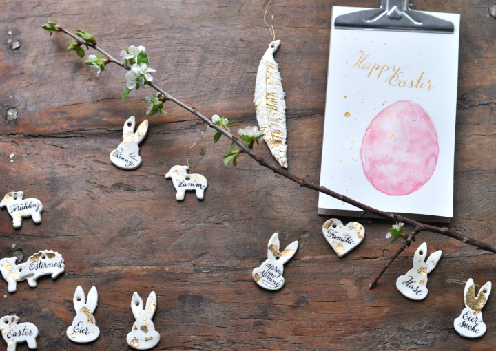 easy DIY decoration for Easter or spring, great to craft with kiddos, too!