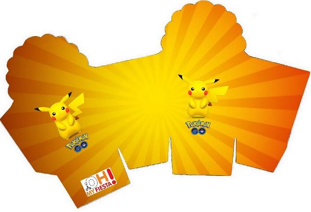 Caja para cupcakes, chocoltes o golosinas de Pikachu.