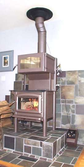 Calais Road Wood Cook Stove With Hot Water Heater Attachment