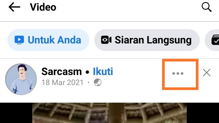 Cara menyimpan video FB ke galeri Tanpa aplikasi