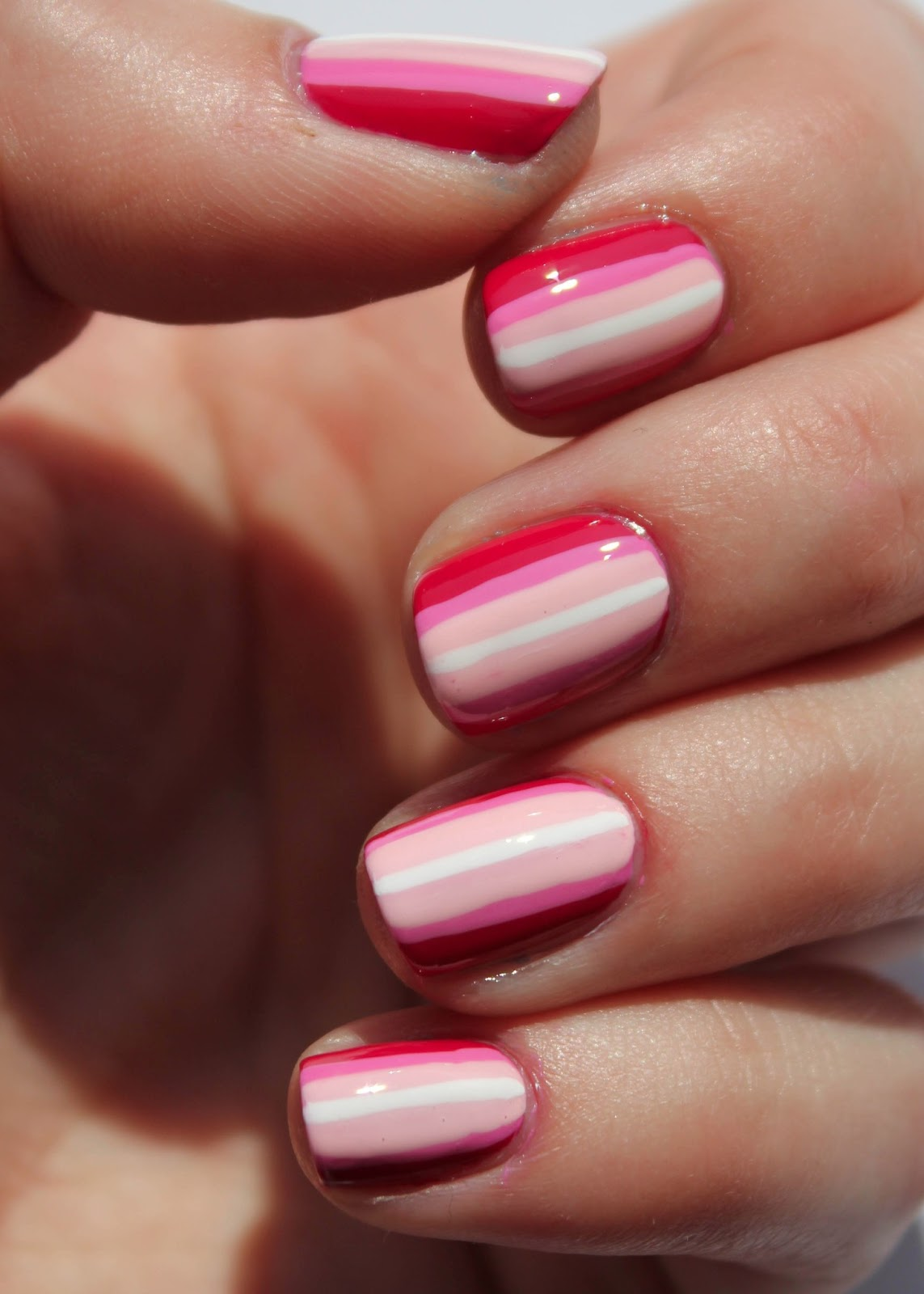 Ombre Nail Trend: Fundamentally Flawless: Pink Ombre Stripes Nail Art
