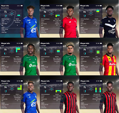 PES 2021 Facepack Ligue 1 Vol 2