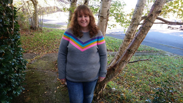 Grey striped jumper from F&F at Tesco