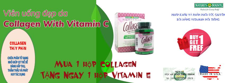 Viên uống đẹp da Collagen Hydrolyzed With Vitamin C từ Mỹ