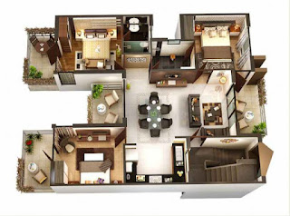 50+-Desain-Denah-Rumah-Minimalis-3-Kamar-Tidur-[Lengkap] kamu akan menemukan desain rumah minimalis dengan 3 kamar tidur hanya di MasIrfun.com