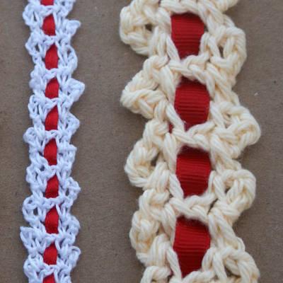 Gargantilla Patron Crochet con Cinta
