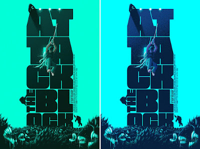 Attack the Block Glow in the Dark Screen Print by Patrick Connan x Vice Press x Bottleneck Gallery