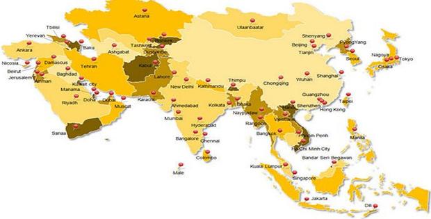 Batas Wilayah Asia Tengah