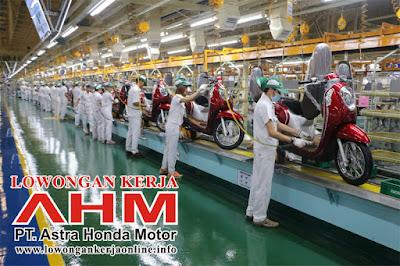 Lowongan Kerja PT Astra Honda Motor AHM