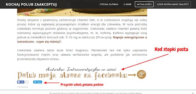 Blog na Weebly - ustawienia