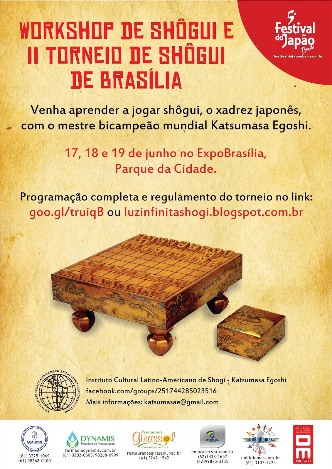 workshop e ii torneio de shogi brasilia no 5 festival do japao. Black Bedroom Furniture Sets. Home Design Ideas