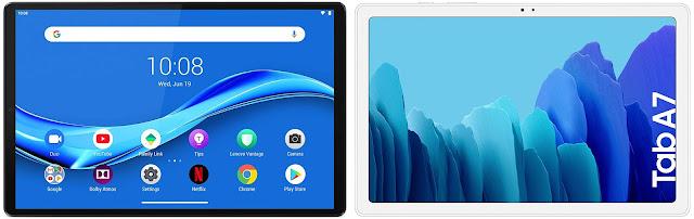Lenovo Smart Tab M10 FHD Plus 64 GB vs Samsung Galaxy Tab A7 10.4 32 GB
