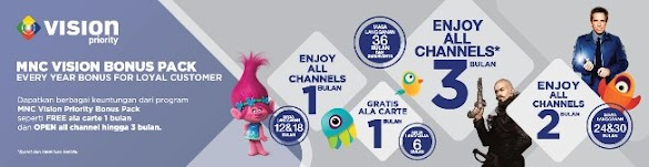 MNC Vision Priority Bonus Paket All Channel