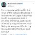 President Muhammadu Buhari Lagos Building Collapse Condolence Message