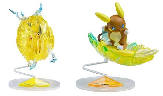 Pikachu Z move, Raichu Stoked Sparksurfer Figure Tomy Monster Collection