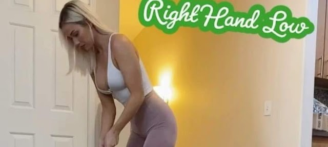 There's no right or wrong way to grip the putter; Paige Spiranac