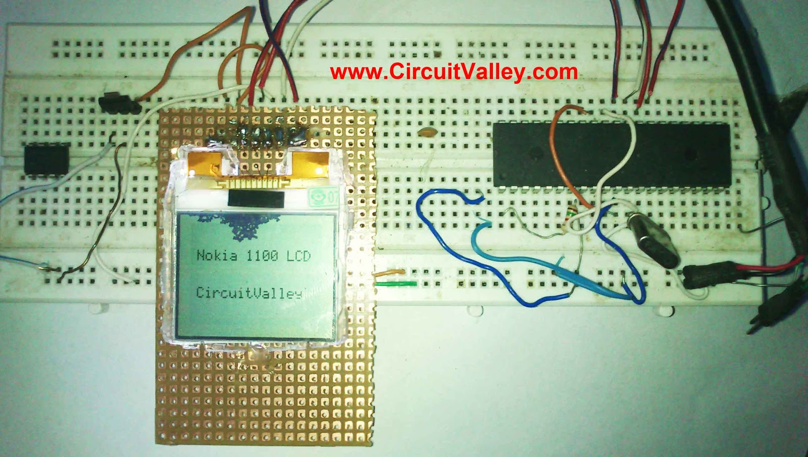 Embedded Engineering Nokia 1100 Lcd Interfacing With Microcontroller Pic16f73 Based Temperature Indicator And Controller Best