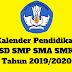 Kalender Pendidikan SD SMP SMA SMK Tahun 2019/2020 - Mutu SD