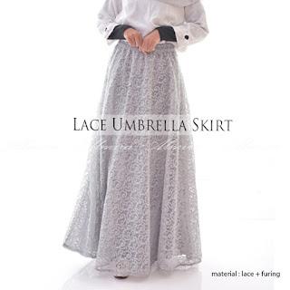 Rok Panjang Pesta  Muslimah Lace  Umbrella Skirt Griyaraditya 081372507000