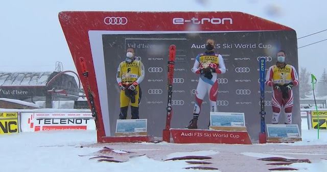Mauro Caviezel Wins First Speed Race of the Season in Val d Isère