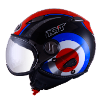 Helm KYT Elsico Seri 1 Black Red Blue