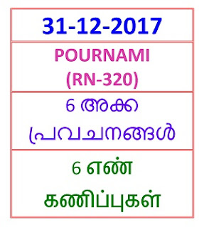 31-12-2017 6 NOS Predictions POURNAMI (RN-320)
