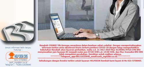 informasi layanan customer service bank bri